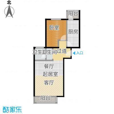 期颐百年66.10㎡20号楼2单元02一室户型10室