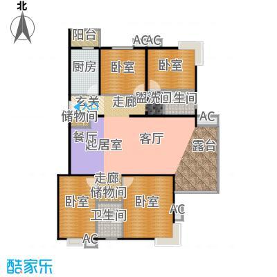 瑞丽江畔145.32㎡四室两厅两卫户型