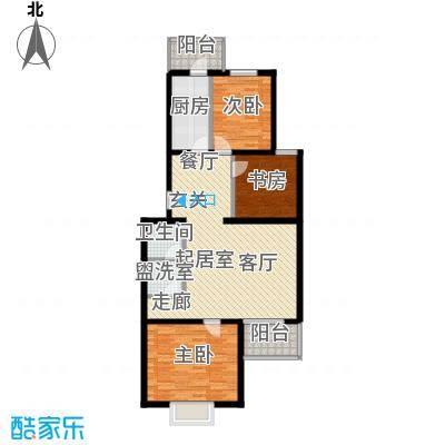 飞腾温泉家园95.16㎡3室2厅1卫1厨户型