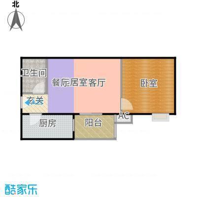 润景家园55.11㎡1室1厅1卫户型