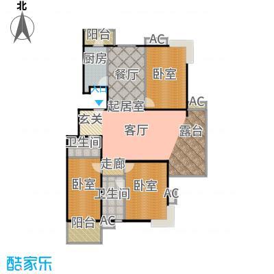 瑞丽江畔三室二厅二卫户型