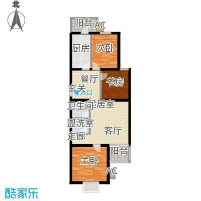 飞腾温泉家园85.70㎡三室二厅一卫户型