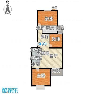 飞腾温泉家园114.19㎡三室二厅一卫户型