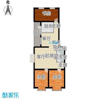 飞腾温泉家园115.53㎡3室2厅1卫1厨户型