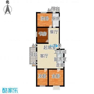 飞腾温泉家园137.26㎡四室二厅一卫户型