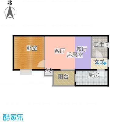 润景家园55.13㎡80#楼C户型