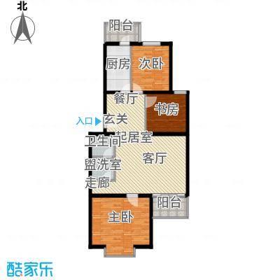 飞腾温泉家园106.64㎡三室一厅一卫户型