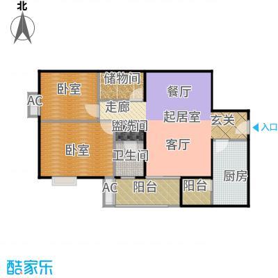 润景家园94.99㎡80#楼E户型