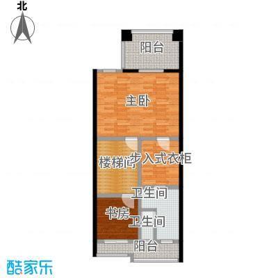 庆隆南山高尔夫国际社区67.95㎡钻石岛A三层户型2室2卫