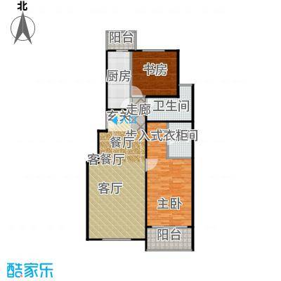 建邦枫景108.00㎡B3户型2室1厅2卫1厨
