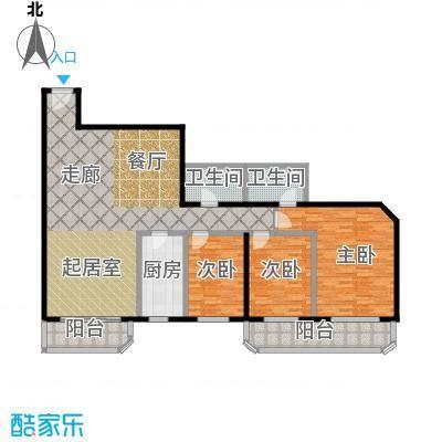 盛今大厦145.40㎡三室两厅两卫户型