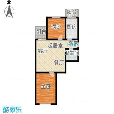 金丰园87.88㎡两室一厅一卫户型