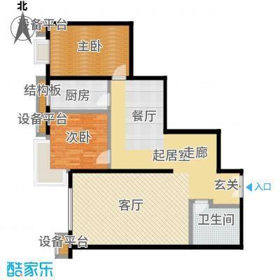风景Club116.98㎡15号楼G-2户型二室二厅一卫户型