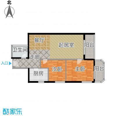 盛今大厦101.50㎡两室两厅一卫户型