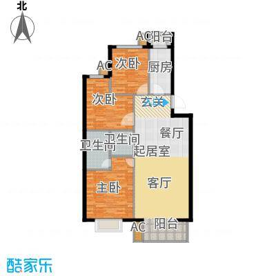 嘉和人家114.79㎡三室二厅户型