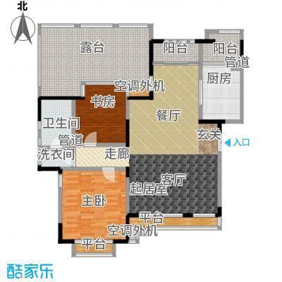 亿城天筑102.00㎡A6户型二室二厅一卫户型