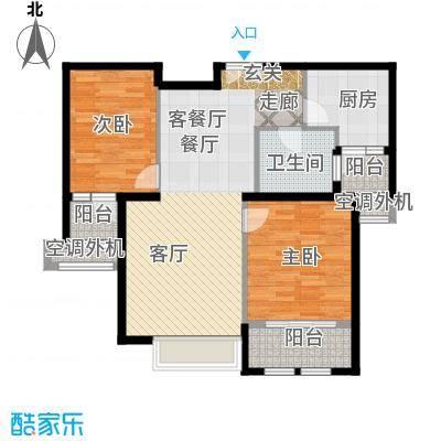 威尔夏大道113.86㎡2号楼A14户型二居室户型