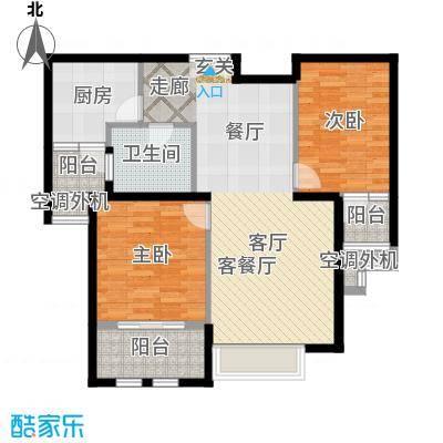 威尔夏大道113.70㎡2号楼A13户型二居室户型