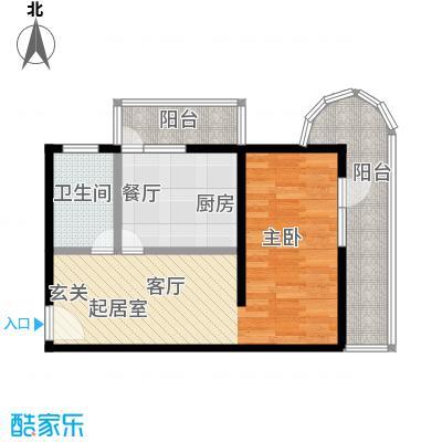南苑北里住宅小区57.35㎡1室1厅1卫1厨户型LL