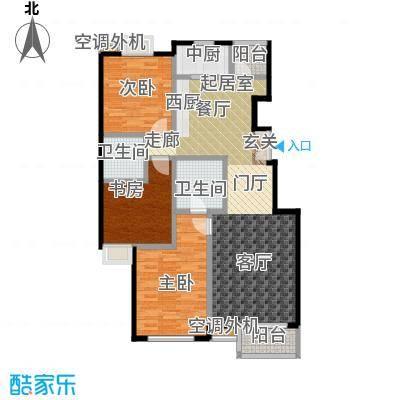 华凯花园124.31㎡12号板楼a户型