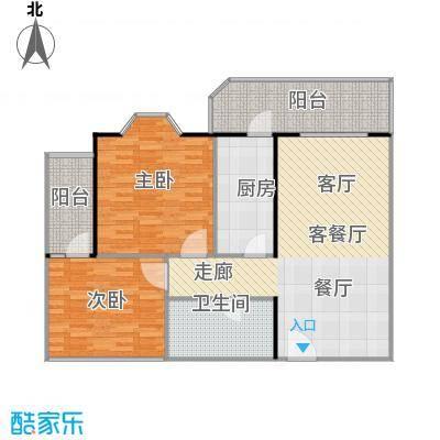 静馨嘉苑94.38㎡二室二厅一卫户型