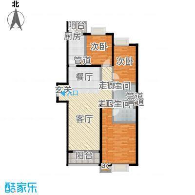 珠江骏景154.73㎡6号楼5户型三居户型