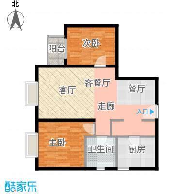 雍景山岚92.14㎡6号楼B'户型10室