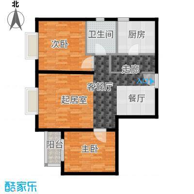 雍景山岚92.49㎡13号楼B户型10室