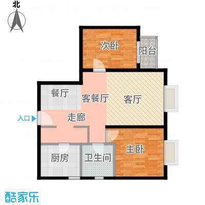 雍景山岚92.14㎡6号楼B'反户型10室