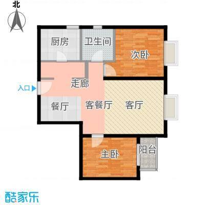 雍景山岚92.14㎡6号楼B反户型10室