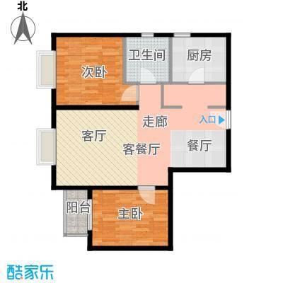 雍景山岚92.14㎡6号楼B户型10室