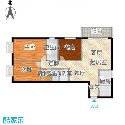 城市印象118.14㎡二室二厅二卫户型