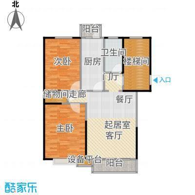 富锦嘉园95.00㎡F区7号楼B-1两室两厅一卫户型