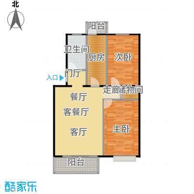 富锦嘉园91.00㎡三期F区6号楼A-1两室两厅一卫户型