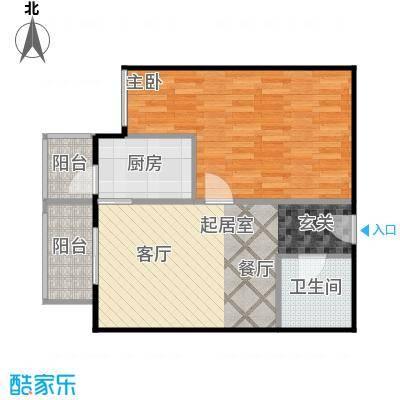 晶城秀府56.25㎡A5四至十三层户型10室