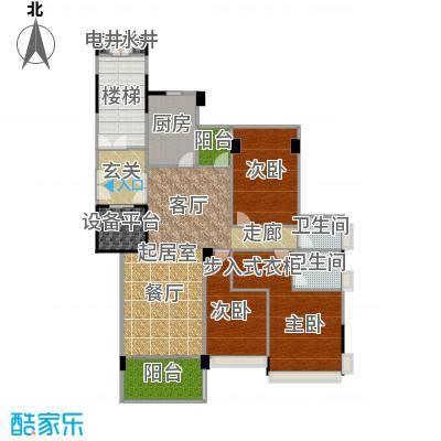 锦绣山河三期锦园141.00㎡L2户型3室2卫1厨