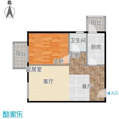 晶城秀府53.59㎡A1四至十三层户型10室
