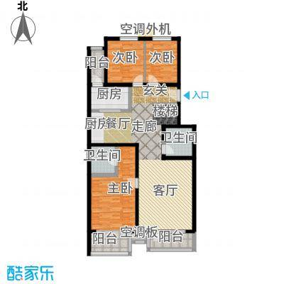香湾(晶城秀府)136.78㎡下跃层A1-1(二期)户型