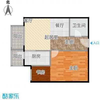 晶城秀府55.71㎡A3四至十三层户型10室