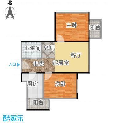 晶城秀府61.17㎡A4四至十三层户型10室