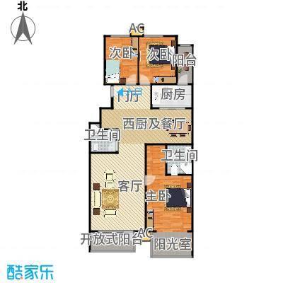香湾(晶城秀府)138.36㎡标准层A1(二期)户型