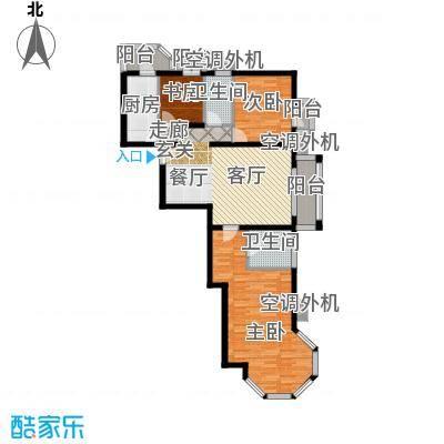 香湾(晶城秀府)118.49㎡标准层B3(二期)户型