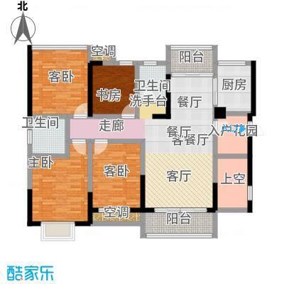 盛腾学林西岸122.00㎡B1户型 三室二厅二卫 122平米户型3室2厅2卫