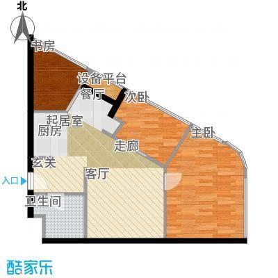 金隅可乐+C户型三室一厅一卫户型