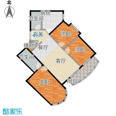 珠江骏景147.50㎡三室二厅二卫户型