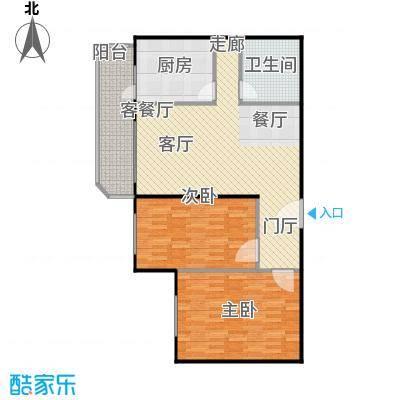 静馨嘉苑95.83㎡二室二厅一卫户型