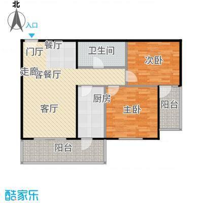 静馨嘉苑95.41㎡二室二厅一卫户型