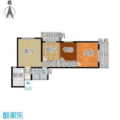 南极星111.00㎡三居室户型