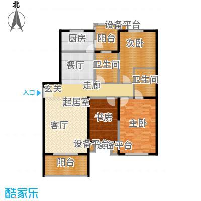 京艺天朗嘉园138.35㎡a3户型