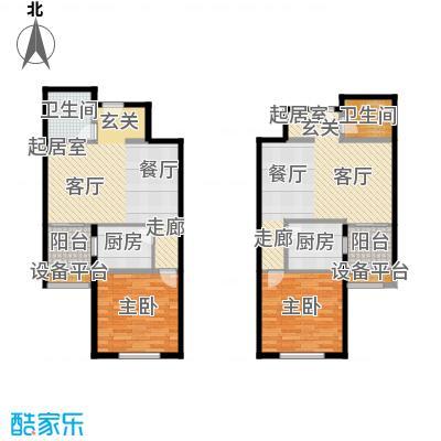 京艺天朗嘉园1室1厅1卫1厨F2、F3户型